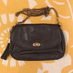 Dark purple crossbody purse